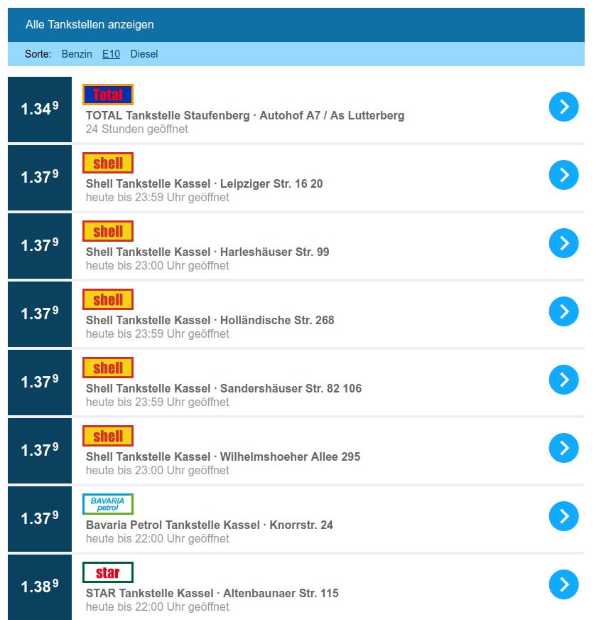 Shell punktet mit günstigen E10 Preisen