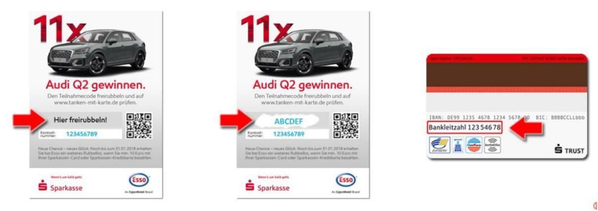 Audi Q2 Gewinnspiel bei Esso in Kooperation mit der Sparkasse