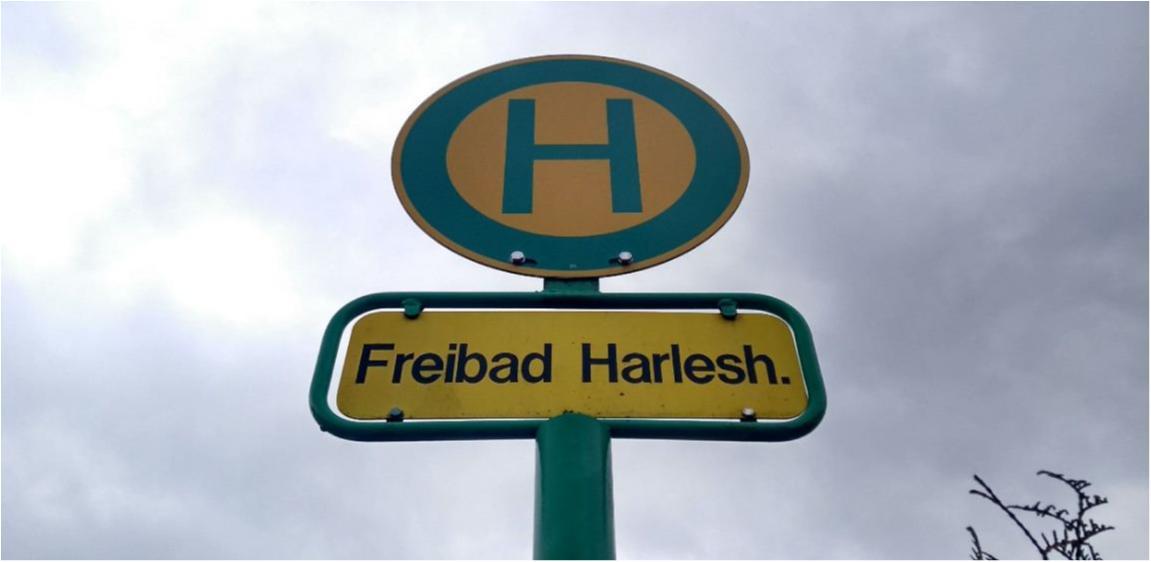 Haltestelle Freibad Harleshausen