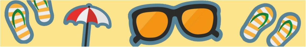 Sommer Motive auf gelben Hintergrund - Werben im Sommer