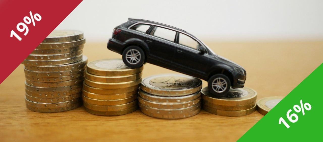 Autokauf MwSt von 19 auf 16 Prozent gesenkt