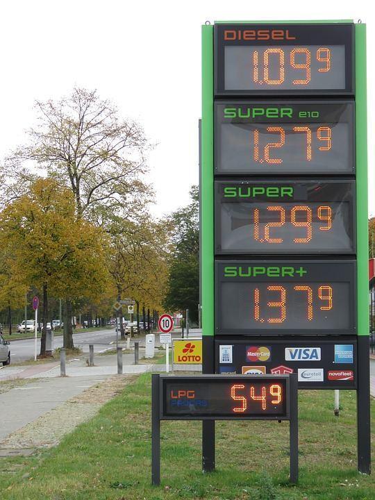 Preisschild Tankstelle