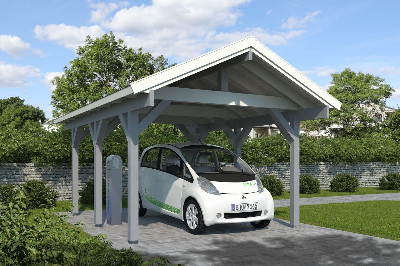 Carport mit E-Auto Ladestation